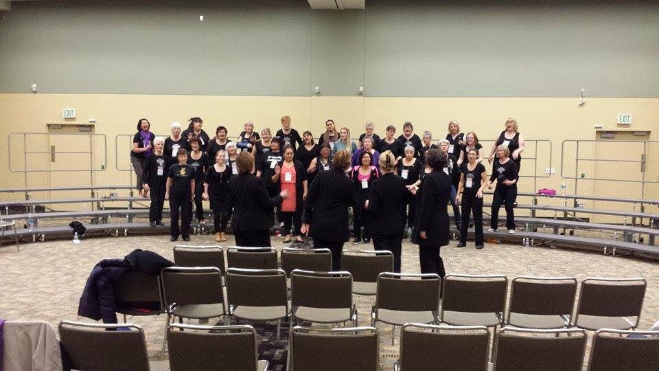 Singing You Don't You Won't! with the Wellington City Chorus - what a blast!